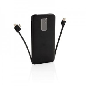 Power bank 10000 mAh z kablem 3w1
